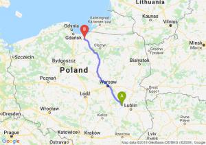 Trasa Puławy - Elbląg