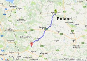 Bydgoszcz (kujawsko-pomorskie) - Polkowice (dolnośląskie)