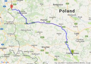 Trasa Częstochowa - Chojna