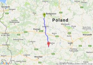 Kcynia (kujawsko-pomorskie) - Ostrów Wielkopolski (wielkopolskie)