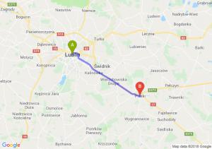 Trasa Lublin - Piaski