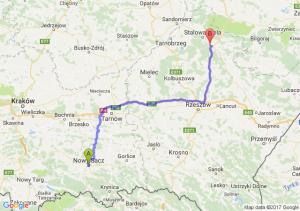Nowy Sącz (małopolskie) - Nisko (podkarpackie)