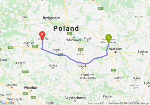 Trasa Nowy Dwór Mazowiecki - Gniezno