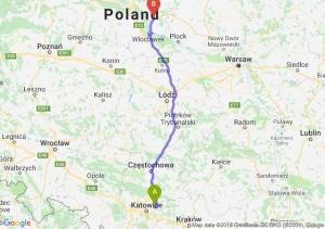 Trasa Dąbrowa Górnicza - Lipno