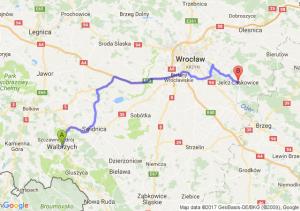 Wałbrzych (dolnośląskie) - Jelcz-Laskowice (dolnośląskie)