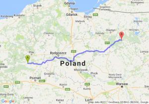 Czarnków (wielkopolskie) - Szczytno (warmińsko-mazurskie)