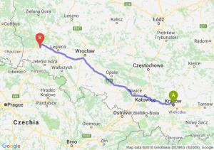 Trasa Kraków - Bolesławiec