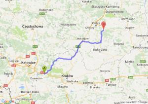 Chrzanów (małopolskie) - Daleszyce (świętokrzyskie)