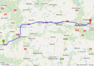 Trasa Czarnków - Strzyżawa