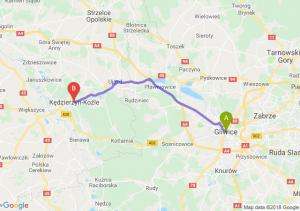 Trasa Gliwice - Kędzierzyn-Koźle