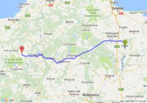 Gniew (pomorskie) - Barwice (zachodniopomorskie)