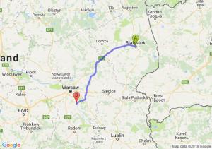 Trasa Białystok - Góra Kalwaria