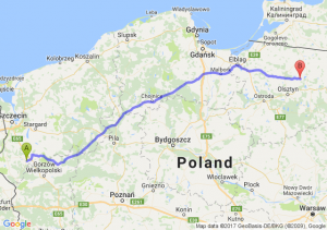Myślibórz (zachodniopomorskie) - Jeziorany (warmińsko-mazurskie)