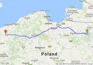 Mikołajki (warmińsko-mazurskie) - Resko (zachodniopomorskie)