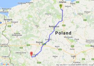 Starogard Gdański (pomorskie) - Wschowa (lubuskie)