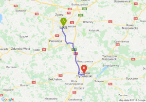 Trasa Łódź - Piotrków Trybunalski