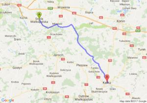 Środa Wielkopolska (wielkopolskie) - Kalisz (wielkopolskie)