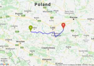 Trasa Ostrów Wielkopolski - Rawa Mazowiecka