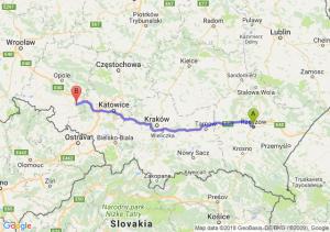 Trasa Rzeszów - Kędzierzyn-Koźle