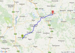 Golub-Dobrzyń (kujawsko-pomorskie) - Olsztyn (warmińsko-mazurskie)