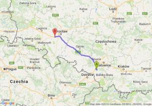 Trasa Żory - Kąty Wrocławskie