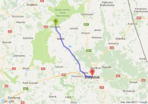Goniądz (podlaskie) - Białystok (podlaskie)