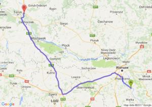 Trasa Góra Kalwaria - Lubicz Dolny