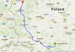 Dobrodzień (opolskie) - Choszczno (zachodniopomorskie)