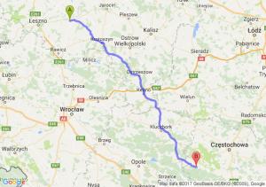Gostyń (wielkopolskie) - Lubliniec (śląskie)