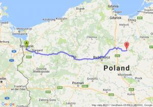 Szczecin (zachodniopomorskie) - Jabłonowo Pomorskie (kujawsko-pomorskie)