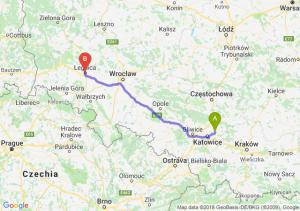 Trasa Dąbrowa Górnicza - Legnica