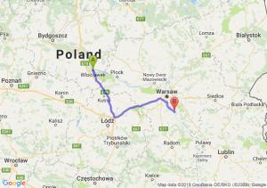 Trasa Włocławek - Góra Kalwaria
