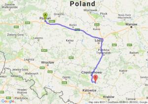 Poznań (wielkopolskie) - Myszków (śląskie)