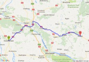 Inowrocław (kujawsko-pomorskie) - Sierpc (mazowieckie)