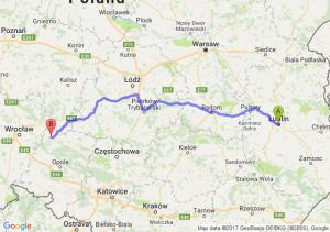 Lublin (lubelskie) - Namysłów (opolskie)