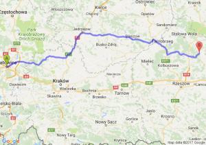 Trasa Katowice - Kopki