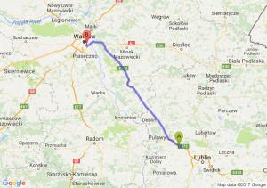 Trasa Markuszów - Sielce