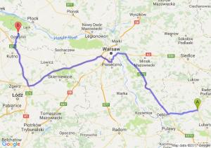 Kock (lubelskie) - Gostynin (mazowieckie)