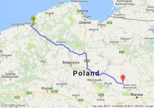 Sianów (zachodniopomorskie) - Płońsk (mazowieckie)