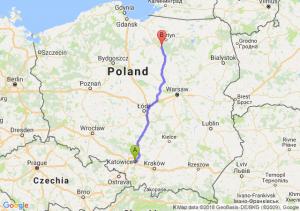 Trasa Katowice - Olsztynek
