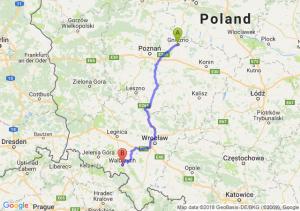 Trasa Gniezno - Wałbrzych