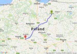 Ostróda (warmińsko-mazurskie) - Września (wielkopolskie)
