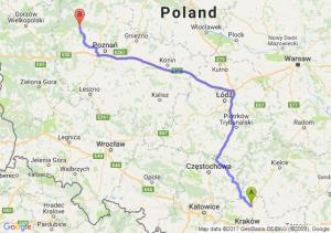 Miechów (małopolskie) - Wronki (wielkopolskie)