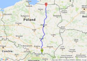 Piwniczna-Zdrój (małopolskie) - Kętrzyn (warmińsko-mazurskie)