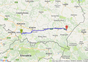 Trasa Bielsko-Biała - Jarosław