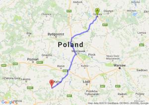 Trasa Ostróda - Ostrów Wielkopolski