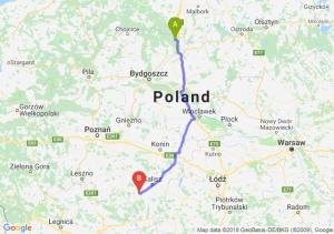 Trasa Warlubie - Ostrów Wielkopolski