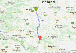 Trasa Września - Opole
