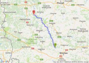 Brzeg Dolny (dolnośląskie) - Kargowa (lubuskie)