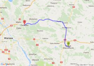 Mińsk Mazowiecki (mazowieckie) - Zielonka (mazowieckie)